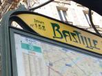 subway Bastille 2 min walking distance line 1 + 5 + 8