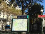 subway Bastille 5 min walking distance line 7