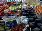 Fresh market on Bastille place