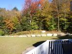 from the deck as the leaves turn