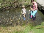 family fishing at beautiful Dinas just up the valley