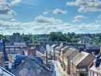 Terrific views over beautiful Kelso town