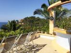 Ocean view terrace with outdoor bar