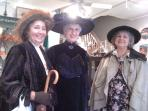Victorian Ladies strolling downtown