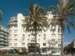 Outside of the building onthe promenade des Anglais