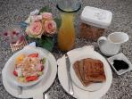 Private in Room Breakfast at Riverbend on request for anything you like Hot or Cold  breckie YUM!!