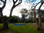 Hammocks are all around for you to lay back and relax in at Riverbend