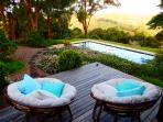 The Deck Happy Hour best place to Relax overlooking the Pool and Hinterland Views at Riverbend