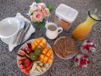 Continental Breakfast at Riverbend Byron Hinterland Retreat