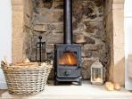 Beautiful restored Grit Stone Fireplace