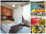 Monolocale con letto matrimoniale e armadio a ponte, piccolo soggiorno con angolo cottura, bagno