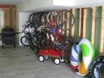 Enough bikes for your whole family, beach toys, chairs, and a wagon to transport