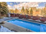 Spring time in Park City - hop in the heated pool for a few laps before the hot tub.