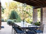 The Loggia. Eating, drinking, reading, or just watching the world go by.