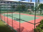 Quadra de tênis.