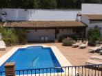 Solar heated pool, BBQ ,electric sun blinds , toilet and store