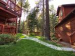 Private, beautiful and large back yard for entartaining