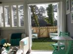 View through Salad Days Dunster
