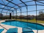This private south-facing pool offers plenty of sun on the pool deck