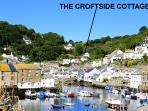 The Croftside Cottage is located in the picturesque Polperro, Just a 5 min walk from the harbour