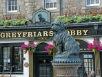 Greyfriars Bobby pub-restaurant (5mins walk from Home Central Apartment)