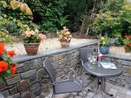 Small enclosed patio & garden furniture.