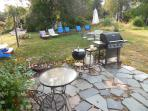 Its Barbecue time in the backyard