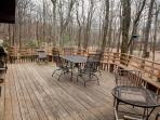 Huge deck for barbecues!