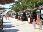 Cafes along the sunny Promenade.