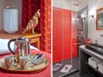 Facilities and full bathroom of Guimet Room at My Home For You