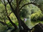 canoeing on the Tirino river