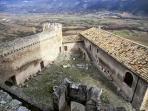 inside of the Piccolomini Castle
