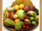 Various exotic fruits & vegetables can be found on the property and in our area.