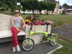 promenade à vélo dans le village