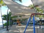 Playground at Palm Cove Beach, directly opposite the resort