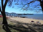 Palm Cove jetty and beach, a short stroll away