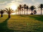 Precioso Parque con un bonito amanecer