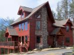 FRONT VIEW, SITUATED ON 2.5 ACRES WITH GORGEOUS MOUNTAIN VIEWS