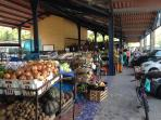 Farmers market in El Valle