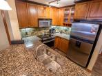 Spacious kitchen with stunning features and stainless steel appliances