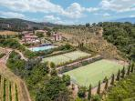 Resort overview  on 5vs5 football pitch and tennis court