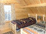 Birch Overlook Cabin - Rustically furnished 2nd floor bedroom with 2 single beds