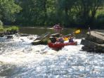 Kayaks & white water rafting on the rivers and pedalos, canoes and rowing on the lakes.