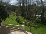 View across the extensive garden