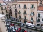 Vista della piazza San Onofrio dalla terrazza
