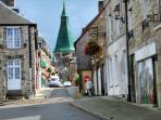 Domfront's Medieval Quarter.  Photo published in  ' Cycling Northern France'