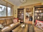 seating room/library/game room - coffee table hides collections of different table/board games