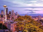 Mt. Rainier, Downtown Seattle and the Space Needle (about 1 hour)