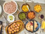Sri Lankan buffet curry meal