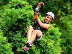 Try the Zipline, a great adventure for the whole family, only 10 min away from the resort.